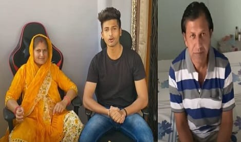 Rajat Pawar with mother and father